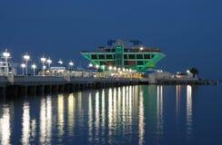 佛罗里达晚上彼得斯堡码头st 免版税图库摄影