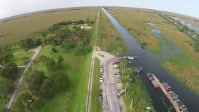 佛罗里达沼泽地鸟瞰图 图库摄影