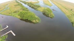 佛罗里达沼泽地鸟瞰图 库存照片