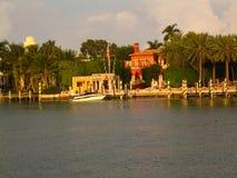 佛罗里达海岛居住的迈阿密 图库摄影