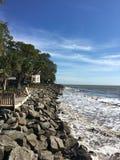 佛罗里达海滩岸 免版税库存照片
