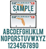 佛罗里达牌照 向量例证