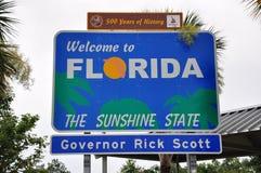 佛罗里达状态标志 库存照片