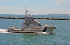 佛罗里达群岛全国海洋圣所巡逻艇 免版税图库摄影