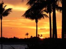 佛罗里达群岛日落1 库存照片