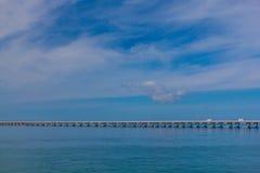 佛罗里达群岛高速公路桥梁 库存照片