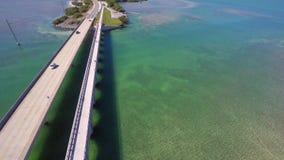 佛罗里达群岛7个英里桥梁4k天线录影 影视素材