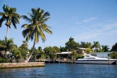 佛罗里达豪华游艇 库存图片