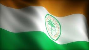 佛罗里达迈阿密旗子  库存例证
