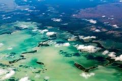 佛罗里达迈阿密鸟瞰图全景风景 免版税图库摄影