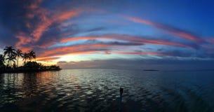 佛罗里达锁上全景的日落 库存图片