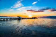 佛罗里达锁上日出 库存图片