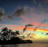 佛罗里达锁上日落 库存图片