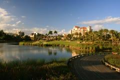 佛罗里达高尔夫球手段 免版税库存图片