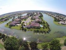 佛罗里达鸟瞰图的郊区家 免版税库存照片