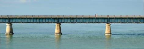 从佛罗里达,美国的7英里桥梁 图库摄影