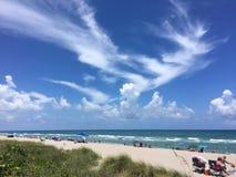 佛罗里达-在海滩的一天 库存照片