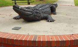 佛罗里达gator雕塑大学 库存照片