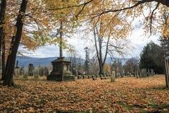 佛蒙特公墓在秋天 库存照片
