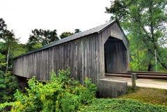 佛蒙特的被遮盖的桥 免版税图库摄影