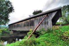 佛蒙特的被遮盖的桥 免版税库存照片