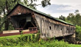佛蒙特的被遮盖的桥 库存图片