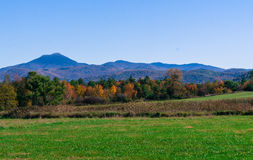 佛蒙特的绿色山秋天的 免版税库存照片
