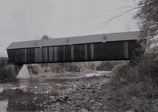 佛蒙特被遮盖的桥 库存图片