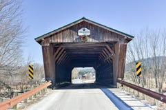 佛蒙特被遮盖的桥 免版税图库摄影