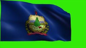 佛蒙特, VT,蒙彼利埃,伯灵屯, 1791 3月4日,国家的旗子的美利坚合众国,美国州的圈 库存例证