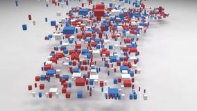 佛蒙特-美国的装饰地图- 向量例证