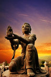 佛陀雕象 免版税库存图片