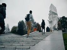 作为争斗的重建的一部分一次纪念集会在莫斯科附近的世界大战2 股票视频