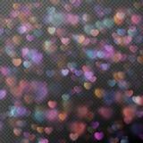 作为作用的心脏bokeh 10 eps 库存图片