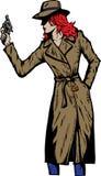 作为侦探五十年代女孩老牌这样 免版税库存照片