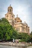 1886作为假定保加利亚大教堂也完成了dormition已知的theotokos瓦尔纳 并且已知的a 免版税图库摄影