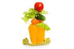 作为健康食物的饮食的概念 免版税库存照片