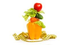作为健康食物的饮食的概念 免版税库存图片