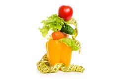 作为健康食物的饮食的概念 库存照片