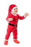 作为克劳斯穿戴的孩子圣诞老人 免版税库存照片