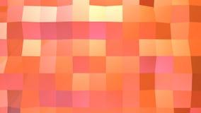 作为凉快的背景的抽象简单的桃红色橙色低多3D表面 软的几何低多行动背景转移 股票视频