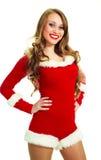 作为加工好的圣诞老人妇女 免版税图库摄影