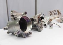作为加工的铝高压拉模铸造零件 库存照片