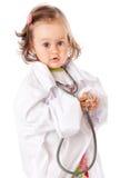 作为医生女孩使用的一点 免版税图库摄影