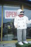 作为厨师穿戴的钝汉,洛杉矶,加州 免版税库存图片