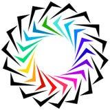 作为商标或普通设计元素的几何形状 圆锋利 库存例证