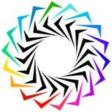 作为商标或普通设计元素的几何形状 圆锋利 向量例证
