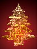 作为圣诞节刀叉餐具结构树向量 免版税库存图片