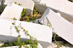 作为块建筑材料原始的石头 免版税库存图片