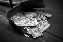 作为垃圾的金钱 免版税库存照片